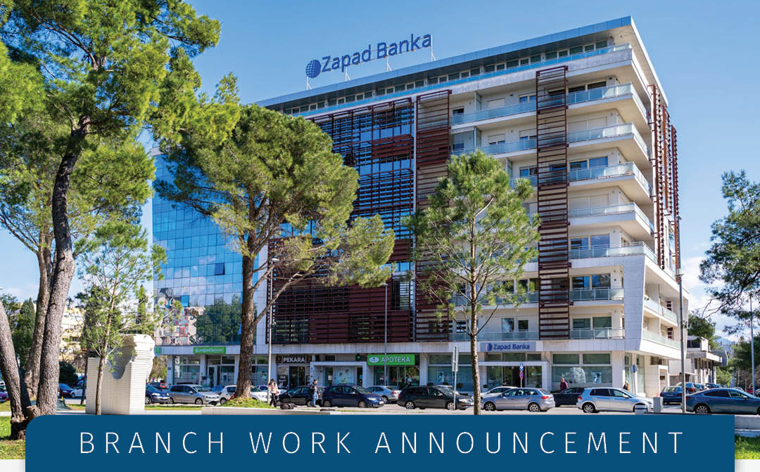 Information on the bank Branch activities